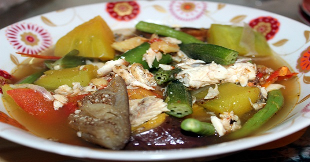 Bulanglang (Boiled Mixed Vegetables With Broiled Fish) Recipe