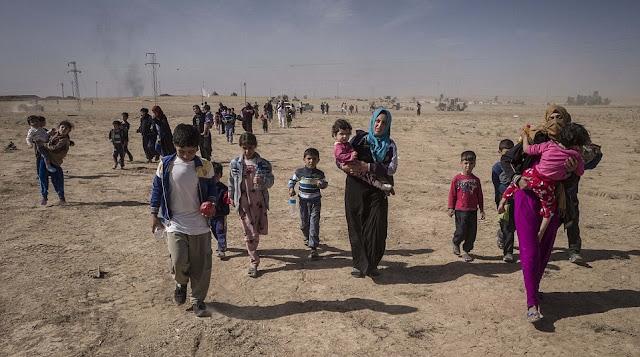 As Nações Unidas e outras organizações da região estão preocupadas com relatos de transporte em massa de aldeões pelo Estado Islâmico no meio da ofensiva em Mosul