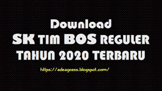 SK TIM BOS REGULER TAHUN 2020