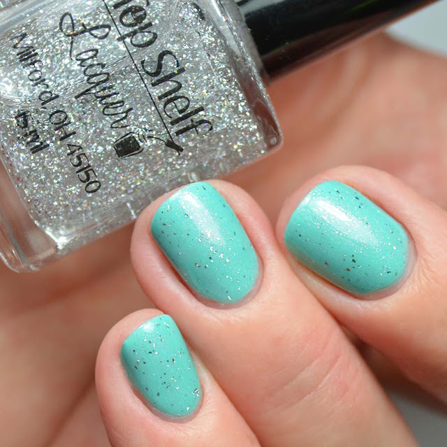 holo nail polish top coat swatch