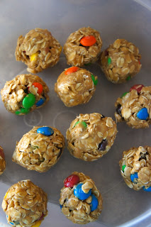 No Bake M&M Granola Bites: Savory Sweet an Satisfying