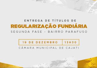 Prefeitura de Cajati entregará novos títulos de regularização fundiária nesta quinta-feira