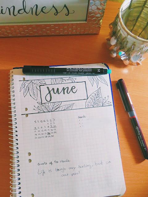 Bullet Journal: Junho