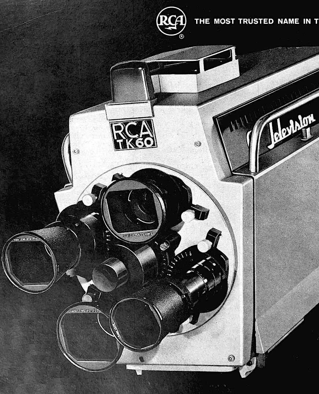 a 1963 RCA TK60 broadcast studio television camera, a photograph