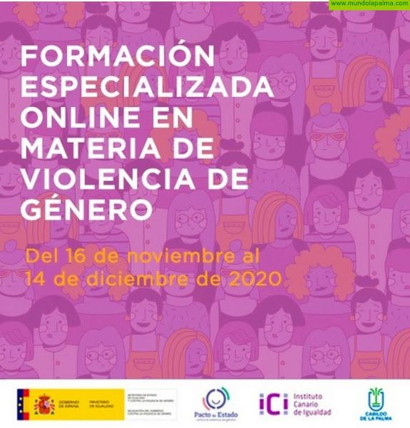 El Cabildo abre el plazo de inscripción para tres cursos de formación online en violencia de género