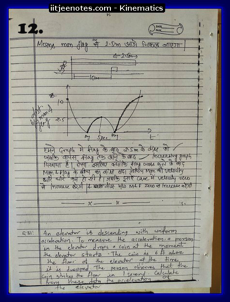 Kinematics IITJEE Notes2