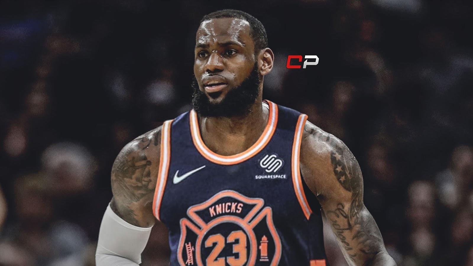 What LeBron James Looks Like Photoshopped On Every NBA ...Lebron James Knicks Uniform