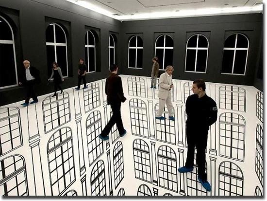 Imagens tão absurdas que parecem mentira - Chão invisível