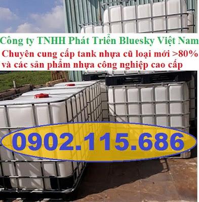 N6 Tank nhựa IBC cũ, tank đựng hóa chất 1000l, tank đựng nước công trình 1000l, tank đựng xăn