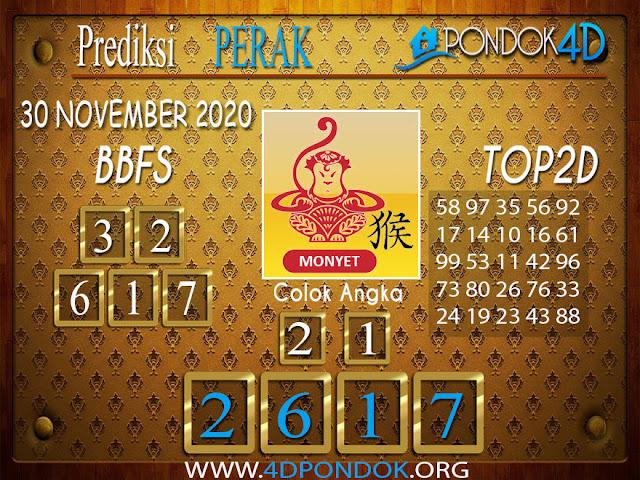 Prediksi Togel PERAK PONDOK4D 30 NOVEMBER 2020