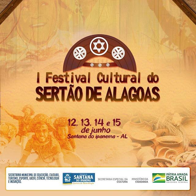Prefeitura de Santana do Ipanema divulga programação oficial do I Festival Cultural  do Sertão de Alagoas
