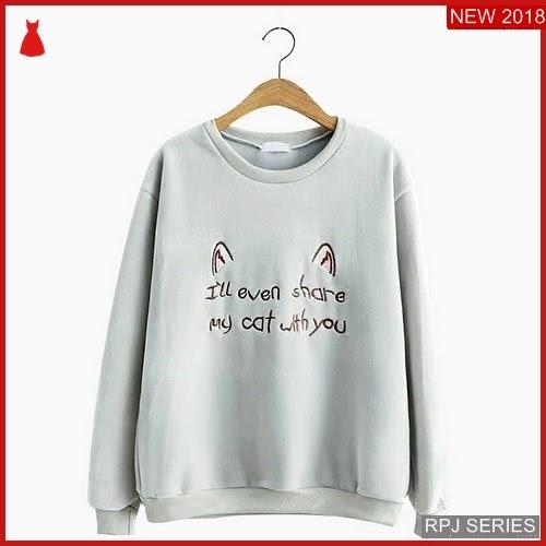 RPJ006S87 Model Sweater Share Cantik Cat Wanita