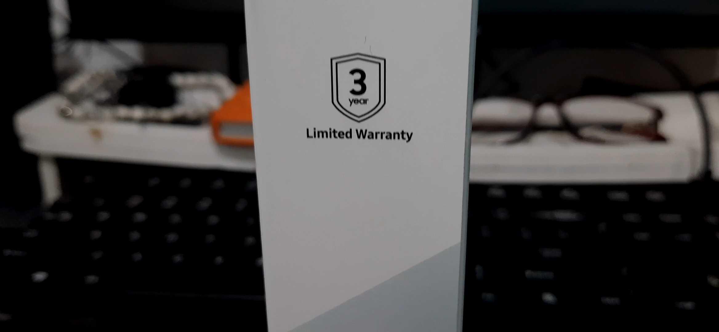 Samsung Portable SSD T5 Warranty 3 Years