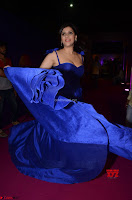 Mannara Chopra in Deep Neck Blue Gown at Zee Telugu Apsara Awards ~  Exclusive 026.jpg