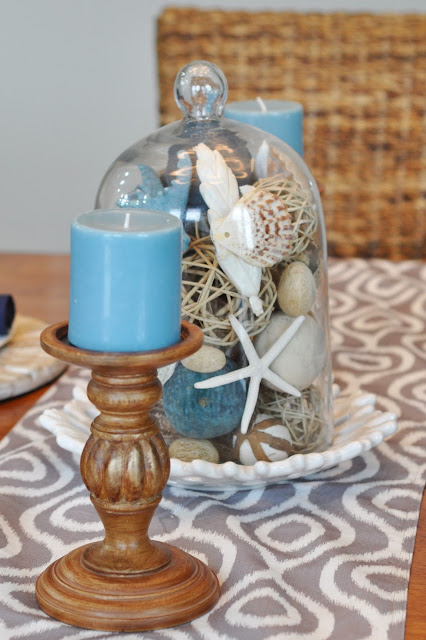 How to create a beach/nautical table centerpiece with Jen Gallacher. www.jengallacher.com #nauticaltable #beachtable #centerpiece