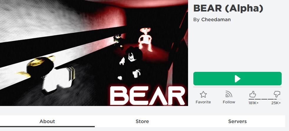 BEAR (Alpha) Roblox Game