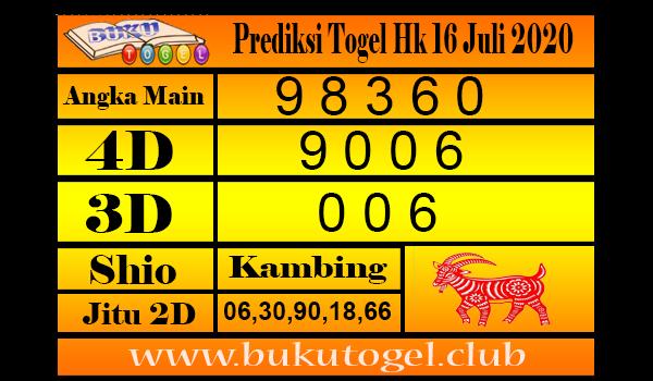 Prediksi Togel Hk Kamis 16 Juli 2020