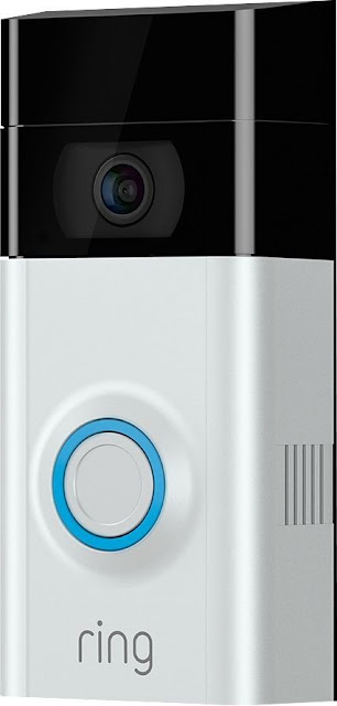 Close up of the Ring Video doorbell available @BestBuy #ad