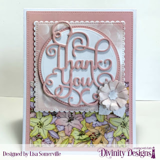 Divinity Designs Paper Collection: Spring Flowers 2019, Custom Dies:Pierced Rectangles, Pierced Squares, Pierced Circles, Scalloped Rectangles, Circles, Thank You, Pretty Posies