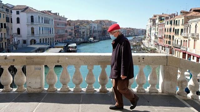 Νέα άνοδος κατά 24% σε νέα κρούσματα κορωναιού στην Ιταλία σήμερα 16/03