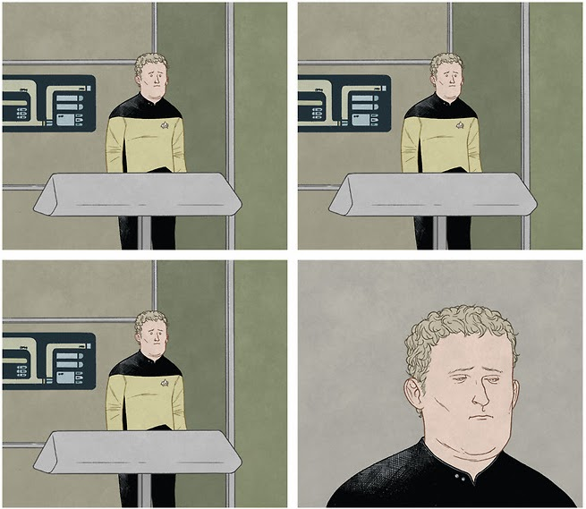Chief O'Brien at Work by Jon Adams