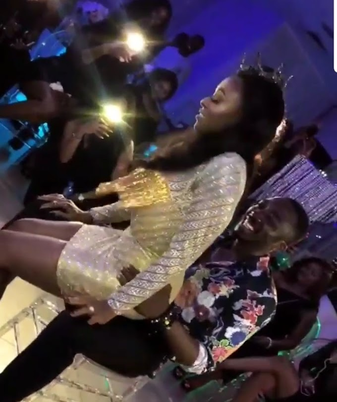 Bovi's Wife Grind Him At Her 30th birthday after Party [Video]