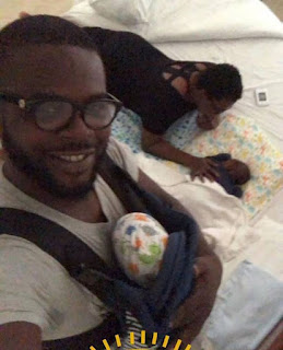 Father's Day: Funke Akindele Shares Lovely Photos Of Her Hubby, Jjc Skillz With Their Twin Boys