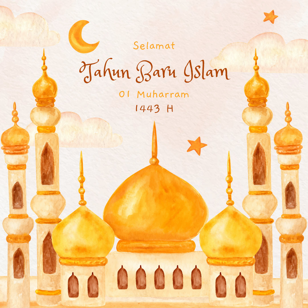 Gambar Ucapan Selamat Tahun Baru Islam 1443 H - 11 Agustus 2021