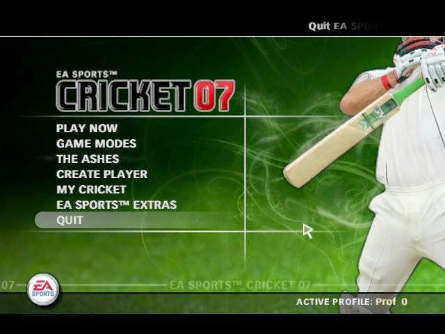play free online cricket games ea sports 2007