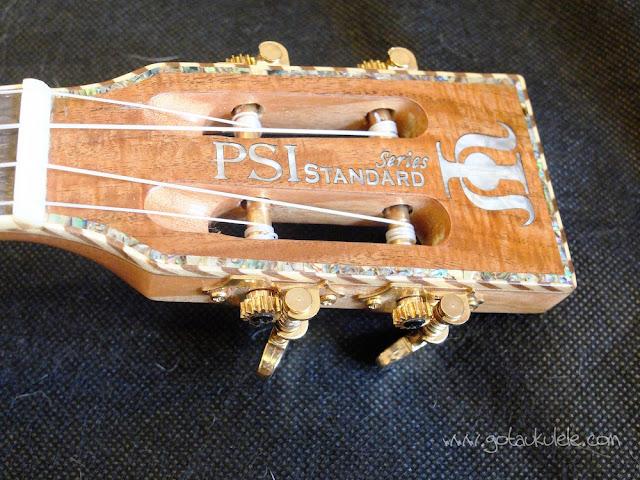 PSI-S-LEO II Tenor ukulele headstock