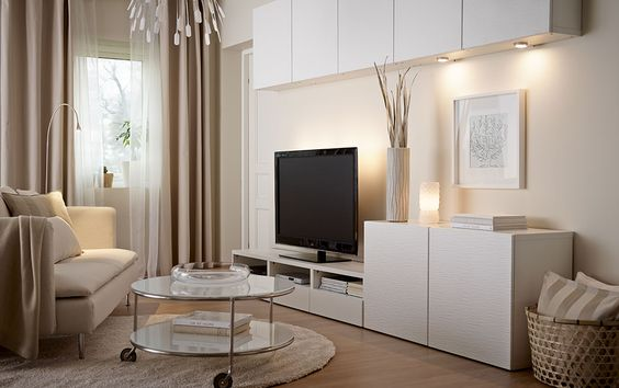 Decoraci n 15 composiciones de muebles tv con la serie for Muebles salon colgados