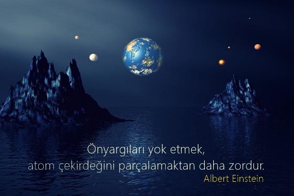 dünya, ay, gezegenler, uzay, uzay manzara, manzara, özlü sözler, anlamlı sözler, güzel sözler, albert einstein, atom çekirdeği