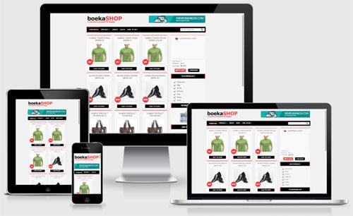 Template toko online gratis BOEKASHOP