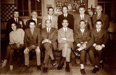 Equipo del Club Ajedrez Sabadell en 1970