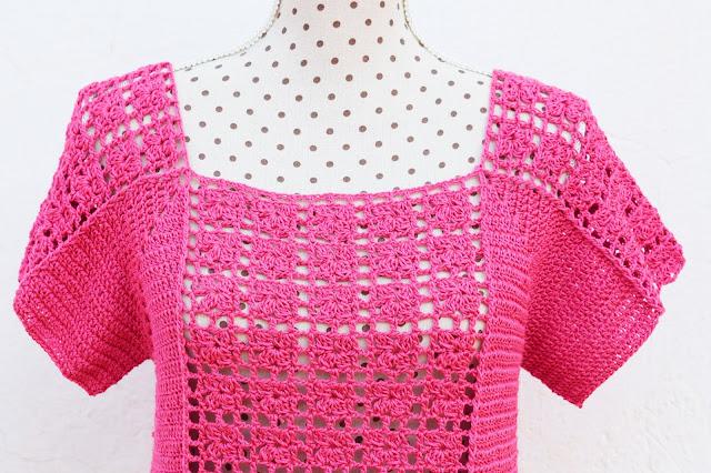 1 - Crochet Imagen Blusa veraniega a crochet y ganchillo por Majovel Crochet