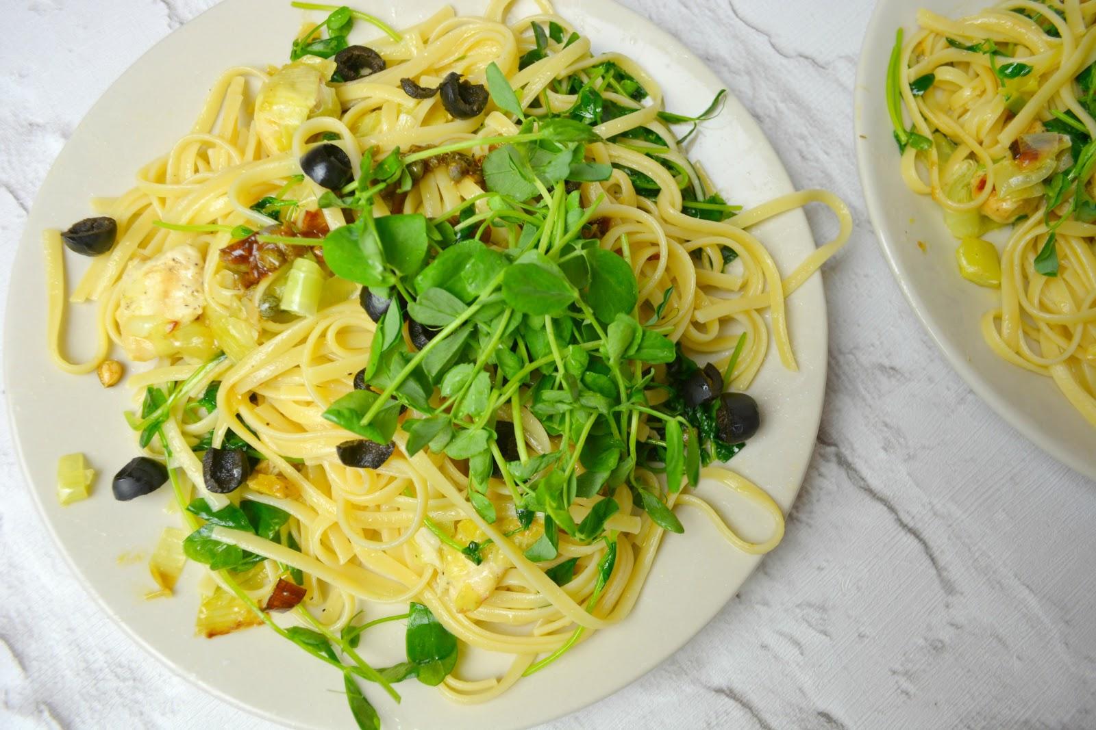 linguine, chicken, gousto, italy, sicily, sicilian, recipe, lemon, ingredients, food, foodie, blogger