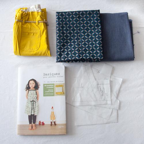 projet blouse en shweshwe basique pour petites filles