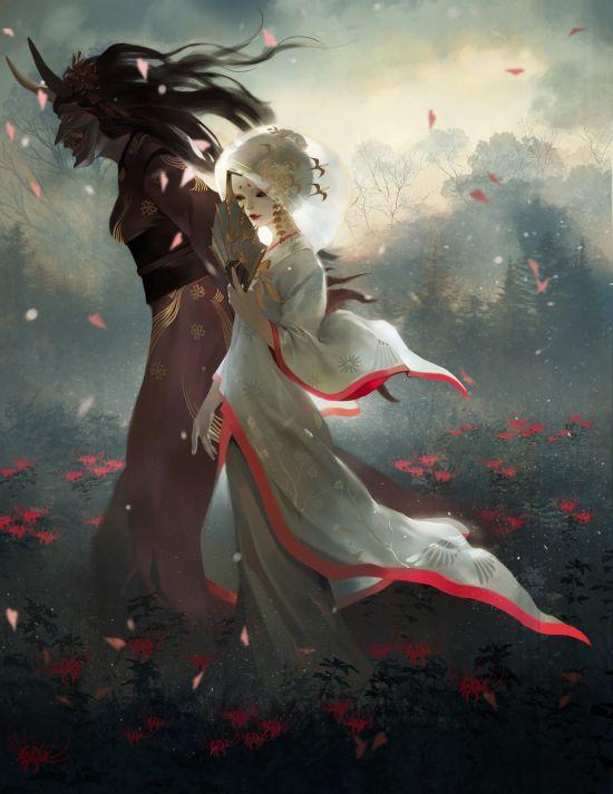 Jay JiwooPark artstation arte ilustrações mulheres fantasia