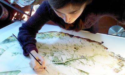 Botanical artist at work