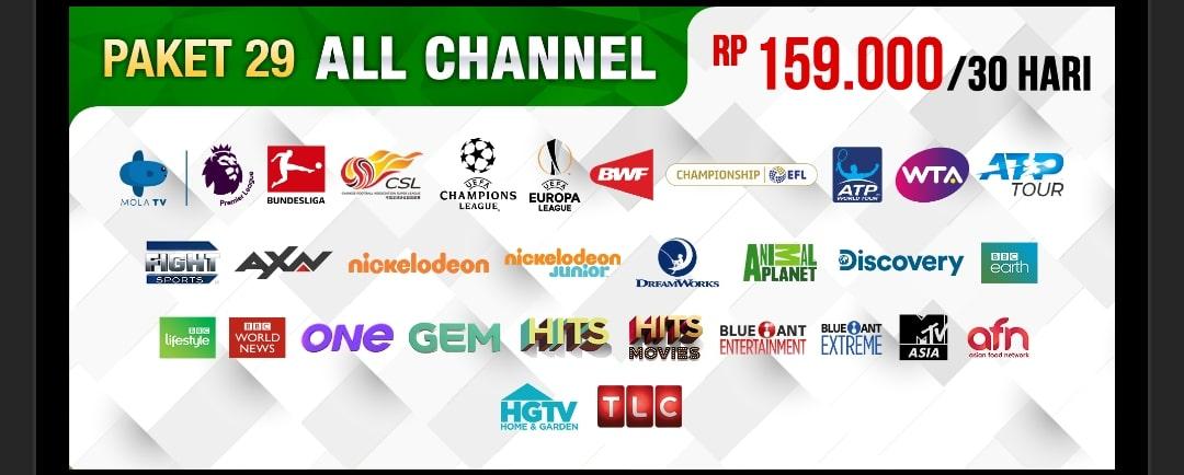 Paket All channel Nex parabola