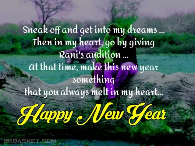 RomanticHappy New Year Wishes For Girlfriend   New Year My Love Romantic Shayari