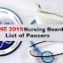 June 2019 Nursing Board Exam Result: A-G Passers