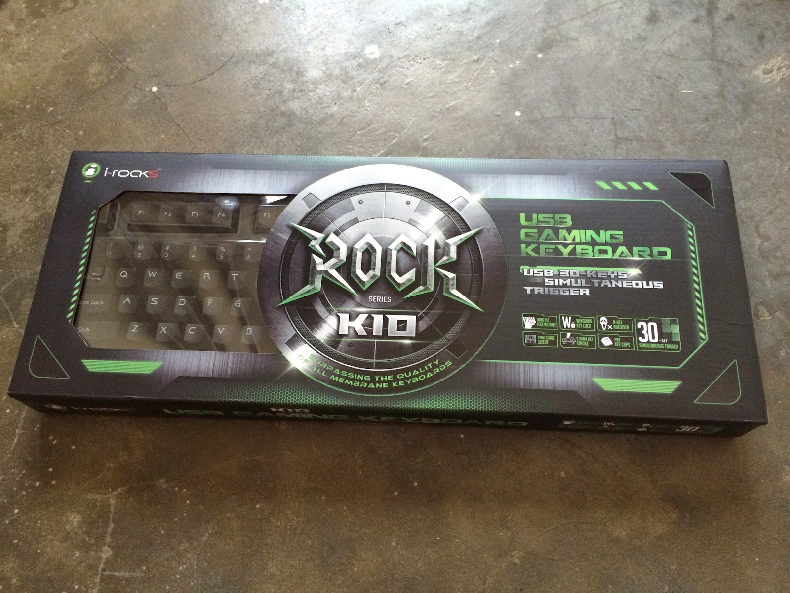 Unboxing & Review: i-Rocks K10 Gaming Keyboard 50