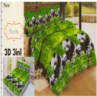 sprei 3d lady rose Panda