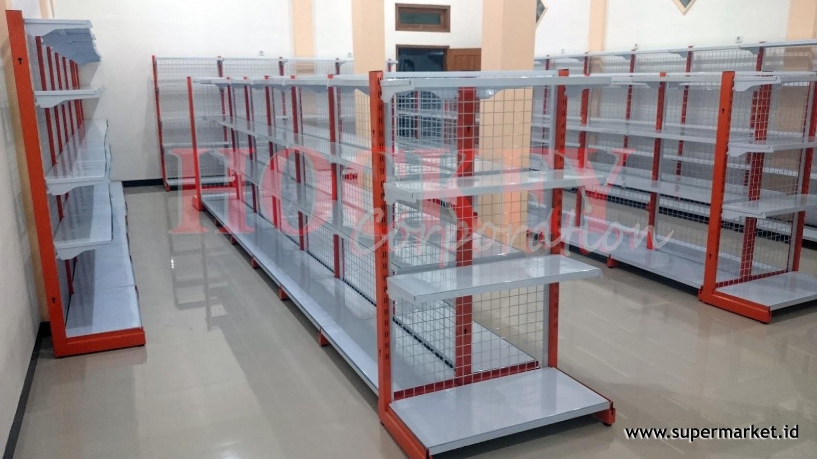 rak supermarket,rak toko,rak minimarket,meja kasir,mesin kasir