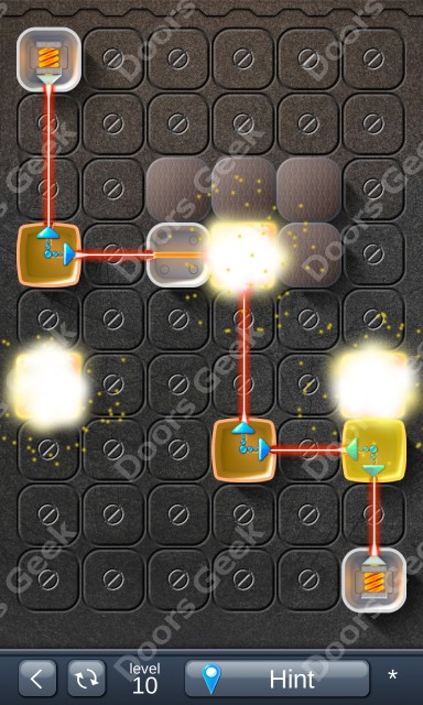 Solution for Laser Box - Puzzle (Basic) Level 10