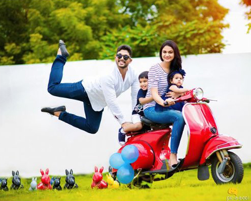 Stylish star Allu Arjun family photoshoot