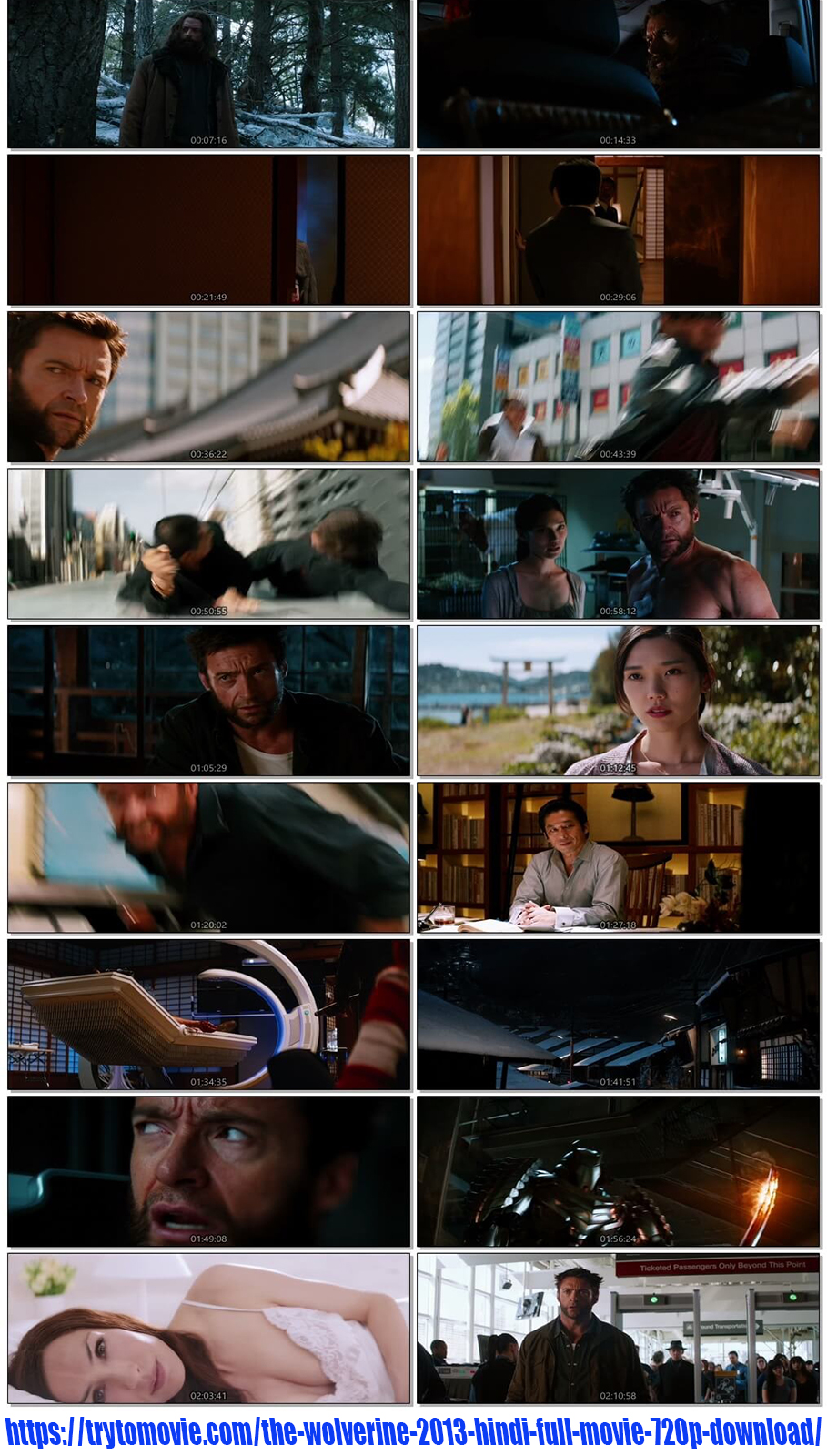 The Wolverine 2013 Hindi Full Movie 720p Download