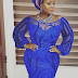 She's BLUE! OAP Toolz Steps Out For Owanbe