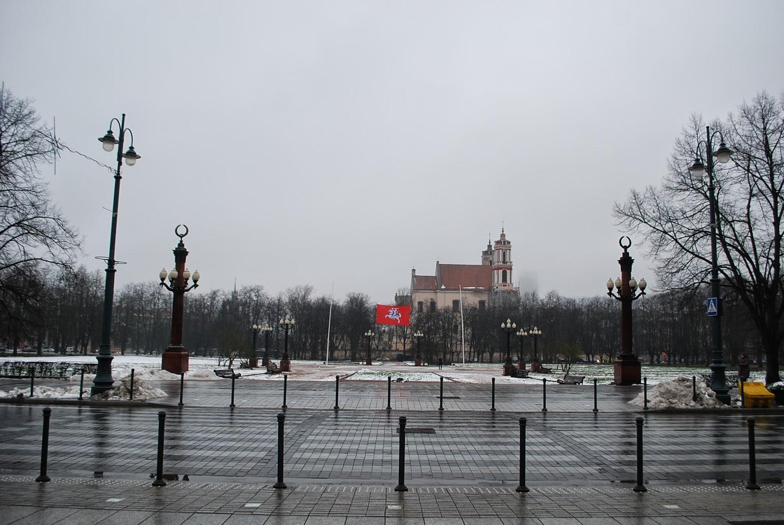 Площадь Лукишкес у музея КГБ